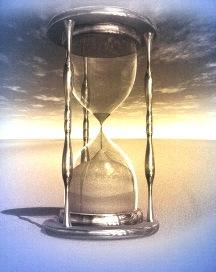 песочные часы, как олицетворение времени, терпения