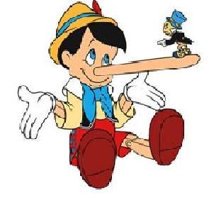 Пиноккио, вырастает нос от лжи