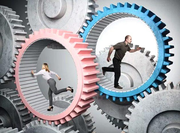 повседневная рутина  - бег по кругу